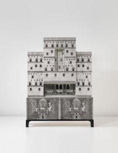 """Piero Fornasetti, Unique """"Architettura"""" illuminated double trumeau"""