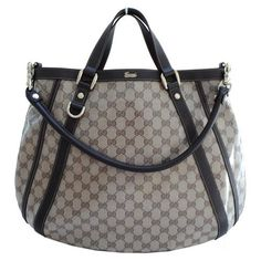 Gucci Beige Crystal Convertible Abbey Tote 268641... #LadiesStylish #Handbags
