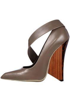 Fall and Winter Heels: Stella McCartney Taupe Jodie Faux Nappa Pump