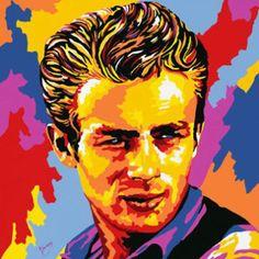 Andy Warhol Paintings | Home > Pop Art > Andy Warhol James Dean Pop Art Oil Painting Hand ...