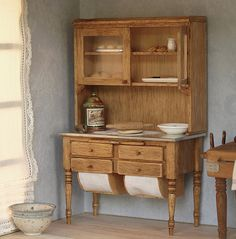 Knead cabinet for dollhouse scale 1:12. Making by MINIATURAFR