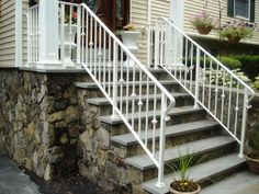 Inventive Staircase Design Tips for the Home – Voyage Afield Wrought Iron Porch Railings, Exterior Handrail, Outdoor Stair Railing, Front Porch Railings, Wrought Iron Stair Railing, Staircase Handrail, Staircase Design, Staircase Ideas, Front Porches