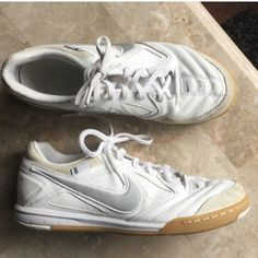 """NEW LEATHER NIKES NEW NIKE ALL LEATHER """"gatos"""" soccer shoe 9.5 Nike Shoes Athletic Shoes"""