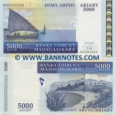 Madagascar 5000 Ariary 2008 - Malagasy Currency Bank Notes, Paper Money, World Currency, Banknotes, Banknote, Bank-Notes, Coins & Currency. Currency Collector. Pictures of Money, Photos of Bank Notes, Currency Images, Currencies of the World.