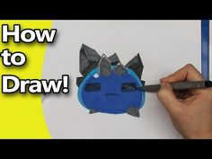 How to Draw a Rock Slime from Slime Rancher Step by Step - YouTube
