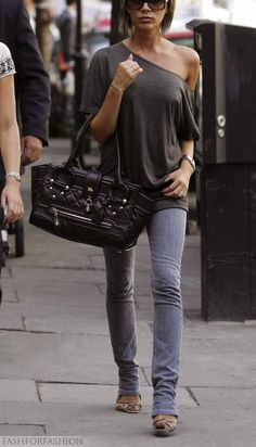 Victoria Beckham casual- love her style