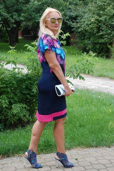 Babooshka Style - Blog modowy: Sukienka z akwarelą