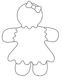gingerbread man bulletin board project - Colouring Pictures For Girls