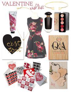 My Valentine wish list. http://blog.shopdirtylaundry.com/posts/2014/2/9/my-valentine-wish-list.html | #Valentine #gifts #wishlist