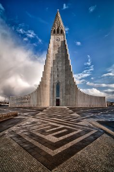 Hallgrímskirkja - From my first trip to Iceland back in April 2011, just after a rainstorm.