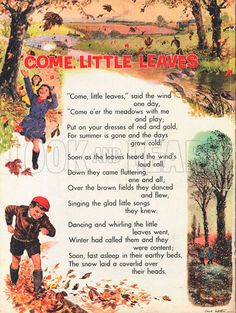 Come Little Leaves-classic children's song-fall quotes