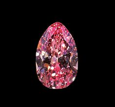 On display at the Smithsonian from the DeYoung Collection . A pink diamond was donated in 1962: a bright pink pear shape weighing 2.90 carats, which originated from the Williamson mine in Tanzania.