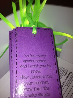 Poem end of year bookmark with ribbon for my rockstar students!