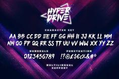 HYPER DRIVE Font + Extras by Sam Parrett on @creativemarket