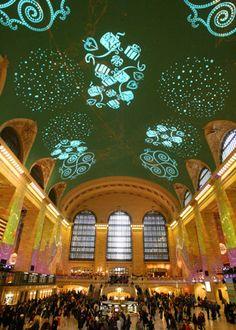 Grand Central Light Show- Christmas time staple.