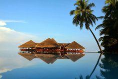 Wellnesshotel auf den Malediven. Medhufushi Island Resort, Meemu Atoll, Malediven.