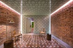 Singapore-based architecture firm Ministry of Design has transformed five Malaysian shophouses into a boutique hotel in Penang's George Town – a UNESCO World Heritage Site featuring a mix of colonial-style architecture. Interior Design Magazine, George Town, Deco Restaurant, Brick Interior, Room Interior, Cove Lighting, Geometric Tiles, Belle Villa, Wallpaper Magazine
