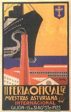 II Feria de Muestras  Gijón 15 a 31 Agosto 1925  / Horacio German