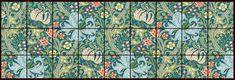 William Morris Golden Lily tile based on the original Morris fabric at the Huntington Library in San Marino. Morris and Morris & Co. Huntington Library, Victorian Tiles, Tiles Price, Border Tiles, Pre Raphaelite, Green Accents, William Morris, Tile Art, Textile Design