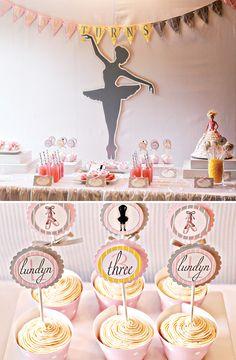 Cute Ballerina Inspired Birthday Party