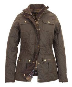 Womens Barbour Quilted Utility Waxed Jacket