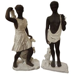 PAIR OF ITALIAN FIGURES | From a unique collection of antique and modern sculptures at http://www.1stdibs.com/furniture/more-furniture-collectibles/sculptures/