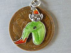 Vintage Sterling Silver Charm Enamelled Lucky Pixie | eBay