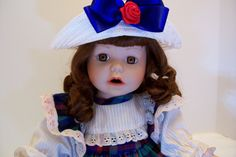 "Porcelain Doll, Collectible Doll, 16"" inch Doll. $20.00, via Etsy."