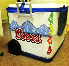 Love the dancing men dividers----NO ALCOHOL PICTURED ON THE OUTSIDE OF COOLERS!!! ASKING FOR COPS TO CHECK IT AND GET DRUNK IN PUBLIC!!! NO THANK YOU! Eww maybe alternate divider sides w grateful dead dancing bears