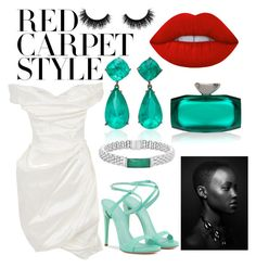 """""""Lupita Nyong'o"""" by esha2232 ❤ liked on Polyvore featuring Artémes, Lagos and Lime Crime"""