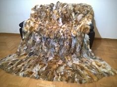 Luxury Real Throw Blanket Natural Color by LUXURYFURS on Etsy