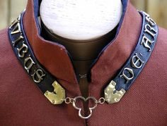 [Mens] 14thC livery collar, this one with personal motto; by Albionworks (custom metal work)