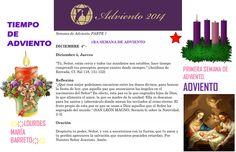ORACIÓN. Diciembre 4º, Jueves 2014. 1RA SEMANA DE ADVIENTO ҉҉LOURDES MARÍA BARRETO҉҉