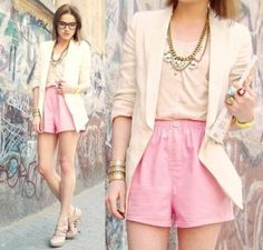 pastels-fashion-street-style-pink-suit-shorts-jackets-id-throw-on-a-skinny-turquoise-belt-though