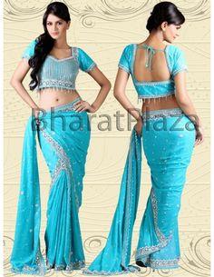 Gorgeous Lehenga Saree Item code : SKD613  http://www.bharatplaza.com/womens-wear/sarees/lehenga-saree/gorgeous-lehenga-saree-skd613.html