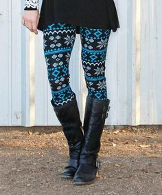 Teal Fair Isle Leggings - Women & Plus by Mayah Kay Fashion Boutique #zulily #zulilyfinds