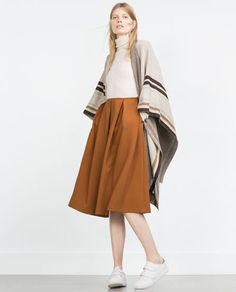 Image 1 of PLEATED MIDI SKIRT from Zara