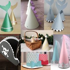 1068b70d0a6 Party Hat Collection. How adorable are these party hats? The patterns and  instructions are