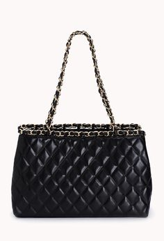 Street-Femme Quilted Shoulder Bag | FOREVER21 Just throw it in the bag! Supercute for it just being a F21 bag!
