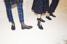 Kate Owen behind the scenes at the Band Of Outsiders women's FW14 presentation at NYFW.