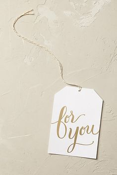 Anthropologie EU For You Gift Tag