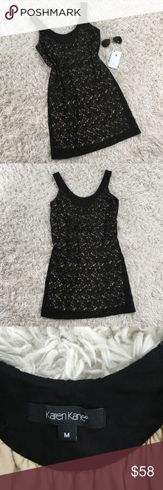 Karen Kane Black Lace Dress This dress is in excellent condition!  It has a great black lace overlay making it flirty and stylish!  Perfect for work or an occasion. Karen Kane Dresses
