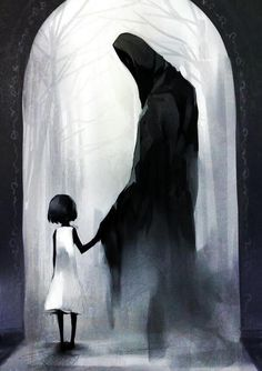 """""""Come little children… I'll take thee away"""" Kyousuke Takagi Once upon a long time ago.she lost her innocent to the dark shadow. Creepy Drawings, Creepy Art, Art Drawings, Scary, Arte Horror, Horror Art, Dark Fantasy Art, Art Sinistre, Come Little Children"""