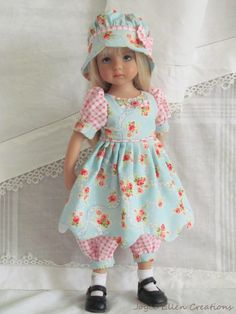 "13"" Effner Little Darling BJD Fashion Blue Pink 5pc OOAK Handmade Set by JEC 