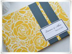 yellow & Gray Wedding Guest Book
