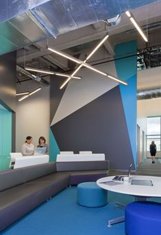 Navis Offices / RMW Architecture and Interiors--- Beautiful accent wall muurschildering Office Space Design, Workplace Design, Office Interior Design, Design Commercial, Commercial Interiors, Corporate Interiors, Office Interiors, Hotel Interiors, Coperate Design