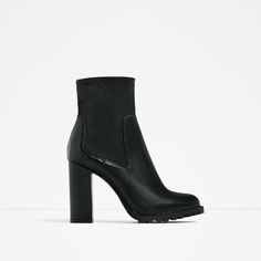 LEATHER ANKLE BOOTS WITH TRACK SOLE-Shoes-WOMAN-BLACK FRIDAY | ZARA United Kingdom