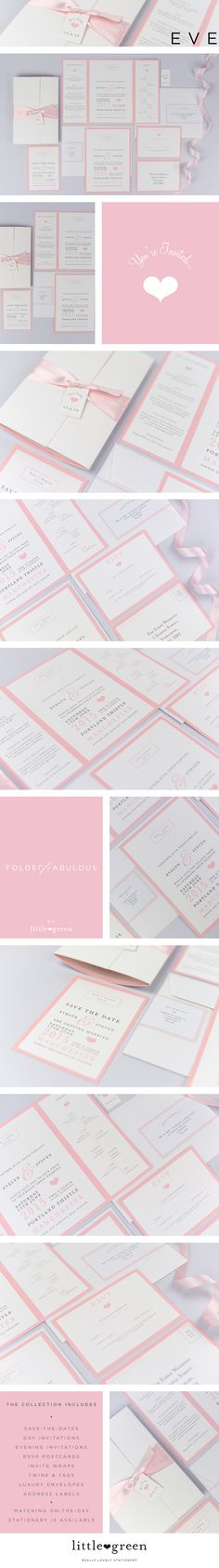 Wedding Invitations - THE EVE COLLECTION from The Little Green Studio