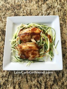 Low Carb Teriyaki Tilapia and Zucchini Noodles: Here's a healthy and light low carb dinner that you'll want to eat all summer long. And it's easy to make!