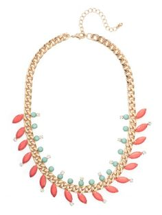 Coral Marquise Laurel Collar